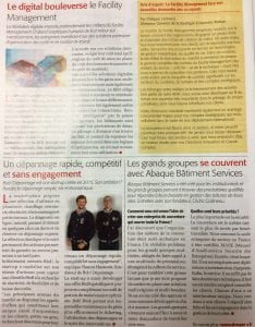 Bob! dépannage - Page Article Presse - CHALLENGES JEUDI 20 octobre 2017- photo