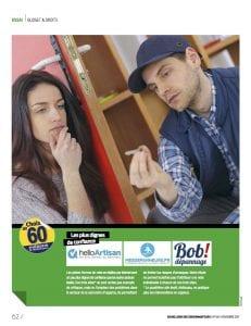 Bob! dépannage - Page Article Presse - 60 millions e consommateurs, novembre 2017- photos