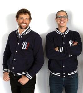 Blaise & Hamza, fondateurs de Bob! dépannage avec leur Teddys Panach'