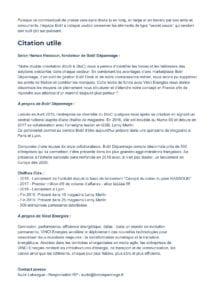 Communiqué de Presse : Vinci Energies rentre au le capital de Bob! Dépannage juillet 2019 p2